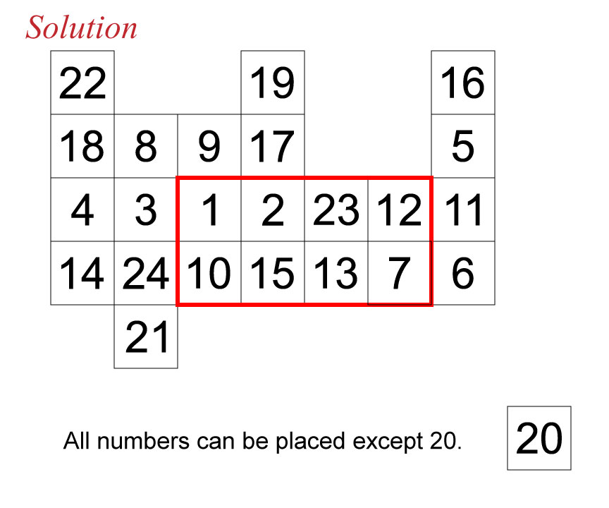 Secan number puzzle solution 111516