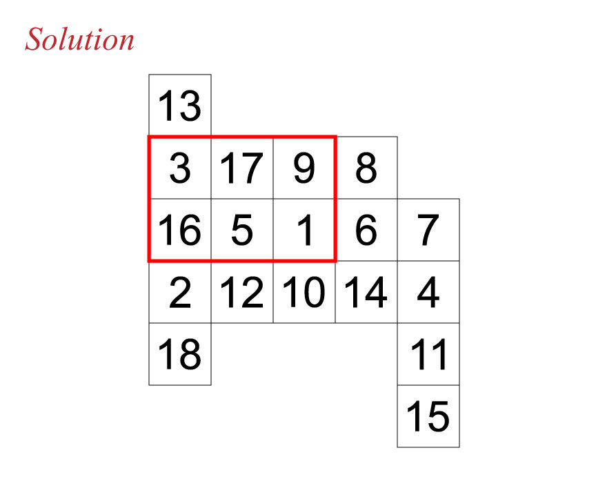 Secan number puzzle solution 120516