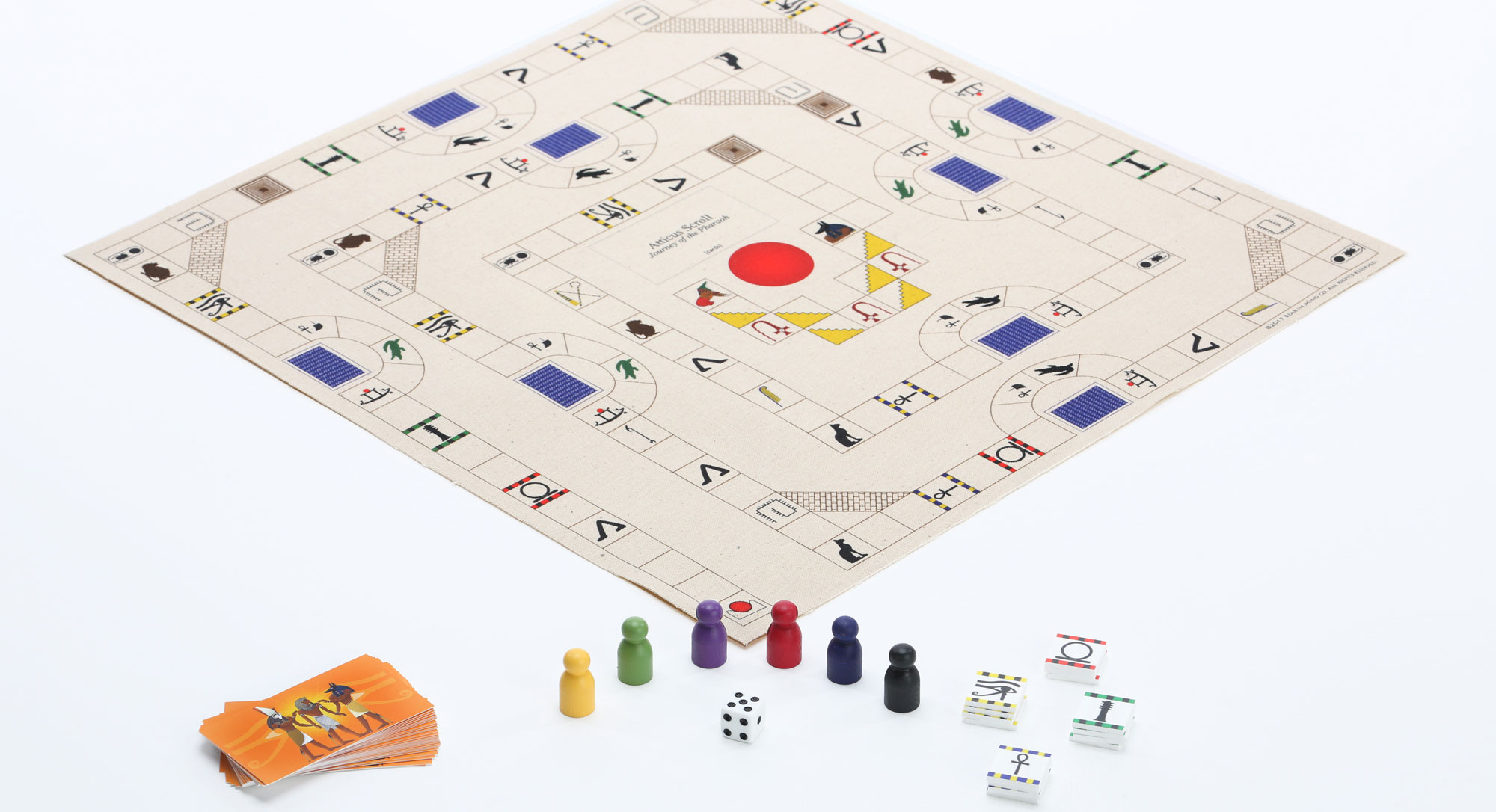 Atticus Scroll Journey of the Pharaoh game board